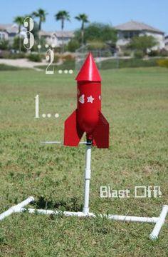 Bottle rocket launcher