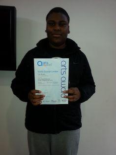 MAYP - Tobi receives his Arts Awards Certificate - Well Done! London Metropolitan, Award Certificates, Arts Award, Awards, Play, Watch, Summer, Clock