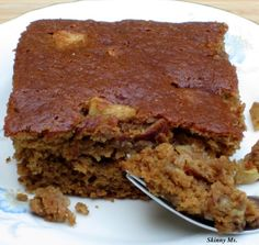 Grandma's Applesauce Spice Cake is super moist and delicious - your family will LOVE it! A great healthy alternative to other sugar-loaded cakes! good applesauce recipe also on this sight Spice Cake Recipes, Healthy Cake Recipes, Healthy Sweets, Apple Recipes, Dessert Recipes, Dessert Healthy, Meatless Recipes, Dessert Ideas, Healthy Cooking