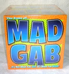 Mad Gab Game FUN FAMILY GAME New in sealed box