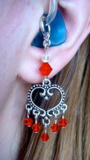 Hearts  ... Hearing Aid Charms or Earrings by HayleighsCharms