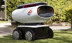 Domino's Australia launches world's first pizza delivery robot -  Read more: http://www.dailymail.co.uk/news/article-3497626/Domino-s-Australia-launches-world-s-pizza-delivery-robot-uses-military-laser-technology-navigate-streets.html#ixzz43F8kJt00 Follow us: @MailOnline on Twitter   DailyMail on Facebook
