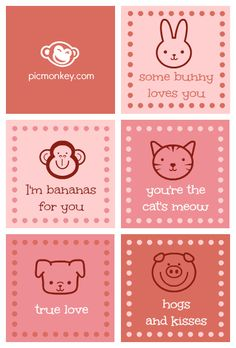 Make your own valentines for your kids with PicMonkey. Create a sheet of cards using the swatches in Collage. Then add some Ordinary Beast overlays in the Editor.