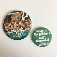 Urban Outfitters Accessories - Vintage Seattle Super Sonics Buttons