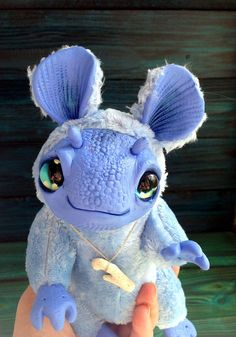 FANTASY PLUSH CREATURE Baby Rain Dragon Ooak Fantasy Creature