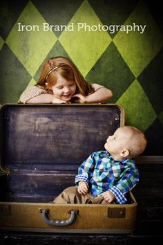 Brother and Sister Say Hello by neberhard, via Flickr sibling child photography