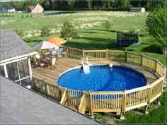 Sunbathing everyday and enjoying spare in deck for above ground pool is really relaxing. Generally, a swimming pool in houses has underground system.
