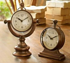 Shop clock from Pottery Barn. Our furniture, home decor and accessories collections feature clock in quality materials and classic styles. Clock Decor, Desk Clock, Decorative Accessories, Home Accessories, Ships Clock, Rustic Bookshelf, Pedestal Desk, Hearth And Home, Cozy House