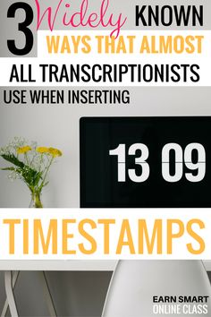 Do you know the 3 widely known ways that almost all transcriptionists use when inserting timestamps in transcription? You don't know? Here's a detailed post that shows you how to insert time stamps the professional way. #timestamps #transcriptionguide #transcriptionrules