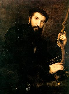 Portrait of Crossbowman - Lorenzo Lotto.  1551-52.  Oil on canvas.  Capitoline Museums, Rome, Italy.