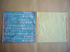 """裏付きの巾着袋をきれいに作る方法についてのご質問をいただきましたので、私のやり方をご紹介します。こちらのお子様用お弁当袋を作る手順で以下ご紹介します。それでは行ってみよー!私は、同じサイズのものをたくさん作るので、写真のように型紙を作っています。今回の型紙は25センチ四方です。型紙用方眼紙を使うと便利です。1.生地の底を""""わ""""にして二つ折りにして型紙を置く。私はまち針でとめますが、プロはまち針は使わないそうです。2.上・左右の縫い代1センチで裁断。3.生地の間に両面チャコペーパーをはさんでルレットで印をつける。周囲をぐるっと一周、5センチおきに印をつけておくと、あとで縫いやすい。★裏地も同様の作業をする。4.左写真のように、底のマチになる部分(マチは10センチ)は5センチ四方線、および45度の斜め線を入れておく...裏付き巾着袋をきれいに作るプロセス紹介"""