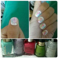Water colours Loreal, Colours, Watercolor, Pure Products, Nails, Finger Nails, Watercolor Painting, Ongles, Nail