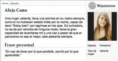 Wiki para: Aleja Cano