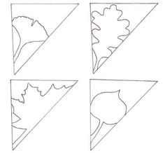 Disegno Foglie Kirigami