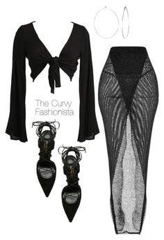 """Untitled #986"" by thecurvyfashionistaa ❤ liked on Polyvore featuring Phyllis + Rosie and Yves Saint Laurent"