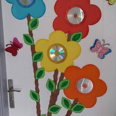 cd flower craft (1)  |   Crafts and Worksheets for Preschool,Toddler and Kindergarten