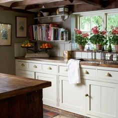 English Country Cottage Decor | sweet english country kitchens.. not a fan of the hardware on the drawers but love the feel