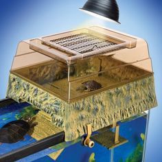 TURTLE TOPPER/BASKING PLATFORM FOR AQUARIUMS UP TO 55 GALLONS