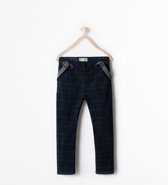 CHECKED TROUSERS WITH SUSPENDERS from Zara