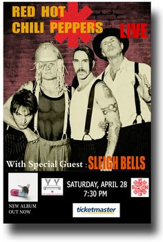 Red Hot Chili Peppers Poster Concert $9.84 #RedHotChiliPeppers #RHCP