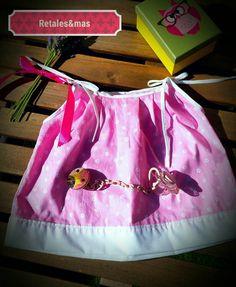 Mira este artículo en mi tienda de Etsy: https://www.etsy.com/es/listing/398384521/vestido-bebe-rosa-con-lazos-blancos