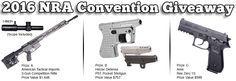 The Shooter's Log team is at the 2016 NRA Convention this weekend. We will be reporting back here with anything new and interesting in full details. If you can't be in Louisville with us, you can still get in on the action. We've secured a few Firearms to give away! http://gvwy.io/dkewdaa