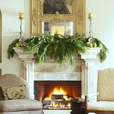 Mantle decor for Christmas