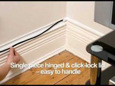 D-Line 30x15 TV Cable Cover Wire Hide Trunking 25cm 50cm 75cm 90cm ...