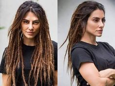 SÃO COISAS MINHAS Half Dreads, Dyed Dreads, Partial Dreads, Dreads Girl, White Girl Dreads, Dreadlock Hairstyles, Messy Hairstyles, Dreads Styles, Curly Hair Styles