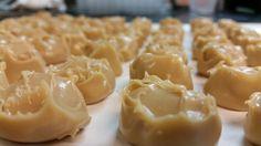 Mogli Truffle Ganache ready to be double dipped in semi-sweet (58% dark) chocolate. #calderabrewing #porter #truffles #glutenfree @bransonschocolates
