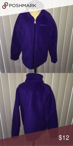 Columbia Fleece Jacket Purple Columbia Fleece Jacket for a child, still in excellent condition and has no markings or tears. It's adorable for any child who wants to be warm and Stylish! Columbia Shirts & Tops Sweatshirts & Hoodies