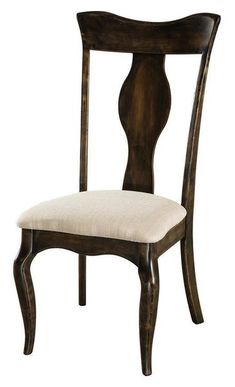 Amish Richland Dining Chair The Richland is built your way. Choose wood, stain and upholstery. This fine wood furniture is crafted in Amish country. Enjoy all the comfort, support and style for your dining room or kitchen. #diningchairs