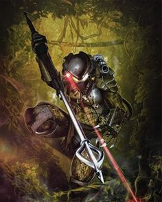 Rival alien races, one of which is the deadliest known form of life in the galaxy while the other is all about hunting and searching for a worthy opponent, and their interaction with humans. Alien Vs Predator, Predator Cosplay, Wolf Predator, Predator Movie, Predator Alien, Apex Predator, Spirit Of Vengeance, Arte Sci Fi, Tribal Warrior