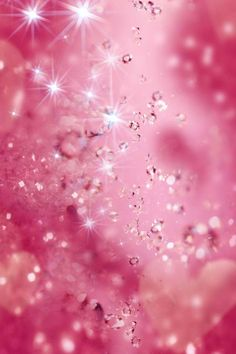 Pink glitter iPhone wallpaper