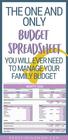 Manage your families finances in as little as 30 minutes every month with this easy budget and financial planning spreadsheet for busy families! Budget Spreadsheet, Budget Planner, Monthly Planner, Budgeting Finances, Budgeting Tips, Financial Tips, Financial Planning, Ways To Save Money, Money Saving Tips