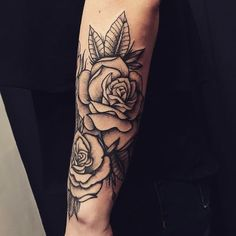 35 Brilliant Flower Tattoos For Men and Women Forarm Tattoos, Small Forearm Tattoos, Forearm Sleeve Tattoos, Tattoo Sleeve Designs, Small Tattoos, Rose Tattoo Forearm, Men Flower Tattoo, Rose Tattoos For Men, Girls With Sleeve Tattoos
