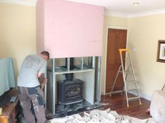 building a false chimney breast | Building A False Chimney Breast To House The Stove Box External ...