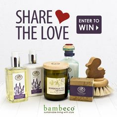 Share your love of all things green for a chance to win a romantic, and eco-friendly, Valentine's package worth over $100 from bambeco! Click the image to enter and then share the love with all your friends for bonus entries!