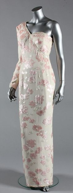 This pink sequined ivory crepe gown, by Catherine Walker worn by Diana, Princess of Wales at a banquet given by President Collor at the Itamaraty Palace whilst on a State visit to Brazil, 1991 will be on show
