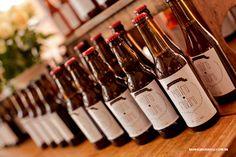 Cerveja caseira feita pelo noivo de lembrançinha