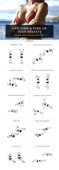 Belly Fat Workout - Try these 10 chest exercises for women to give your bust line a lift and make your breasts appear bigger and perkier, the natural way! Do This One Unusual 10-Minute Trick Before Work To Melt Away 15 Pounds of Belly Fat