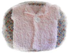Gilet rose en laine nounours