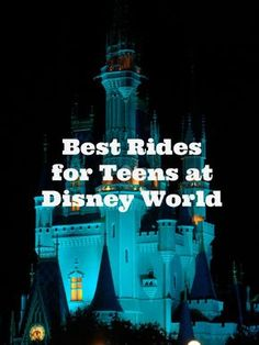 Top Sixteen Rides at Disney World for Tweens and Teens - soarin', tower of terror, rock-n-roll roller coaster to name a few. Disney World Rides for Teens