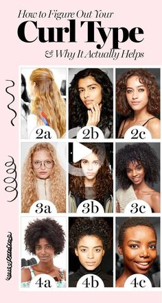 No more wasting money on not-right products. #curlyhairstyles Natural Hair Type Chart, Natural Hair Types, Curly Hair Types, Curly Hair Care, Short Curly Hair, Medium Curly, Caring For Curly Hair, Curly Hair Products, Curly Hair Routine