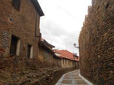 Cerca medieval y casas.