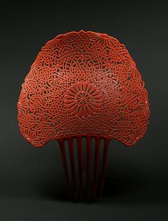 "suchasensualdestroyer: "" Oyonnax (French), Mantilla Comb, plastic, c. 1900. """