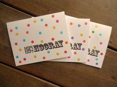 Confetti Celebration Birthday Cards by Lemon Drops & Lilacs on etsy.com