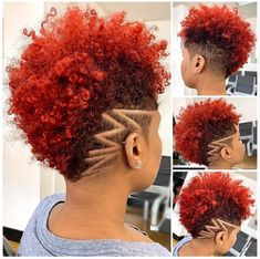 Which Trending Haircut Should You Try Next? 2019 Lovely and Stunning Natural Hairstyles to Copy Natural Hair Short Cuts, Tapered Natural Hair, Pelo Natural, Short Hair Cuts, Natural Hair Styles, Natural Curls, Shaved Hair Designs, Hype Hair, Haircut Designs