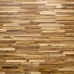 """3D Stacked Oil Finished Natural Acacia 7.5"""" Walling"""