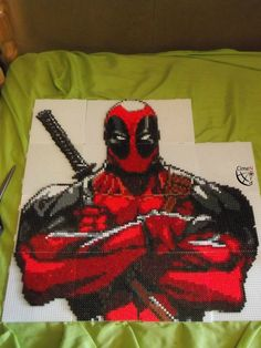 Deadpool Project Perler Beads by Cimenord on DeviantART